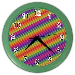 Spectrum Psychedelic Green Color Wall Clocks