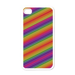 Spectrum Psychedelic Green Apple Iphone 4 Case (white)