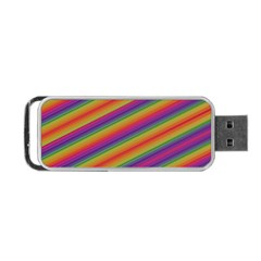 Spectrum Psychedelic Green Portable Usb Flash (two Sides)