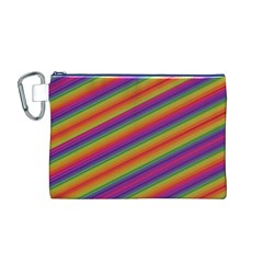 Spectrum Psychedelic Green Canvas Cosmetic Bag (m)