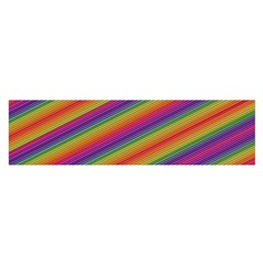 Spectrum Psychedelic Green Satin Scarf (oblong)