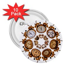 Time Clock Alarm Clock Time Of 2 25  Buttons (10 Pack)