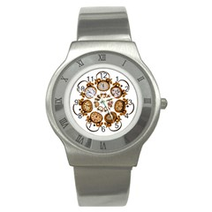 Time Clock Alarm Clock Time Of Stainless Steel Watch