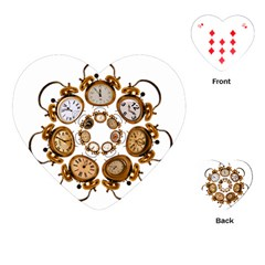 Time Clock Alarm Clock Time Of Playing Cards (heart)