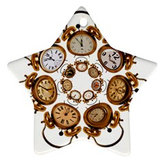 Time Clock Alarm Clock Time Of Star Ornament (two Sides)