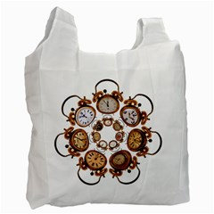 Time Clock Alarm Clock Time Of Recycle Bag (two Side)