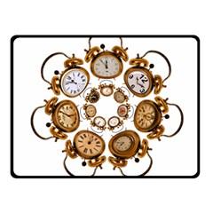 Time Clock Alarm Clock Time Of Fleece Blanket (small)
