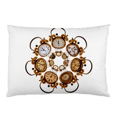 Time Clock Alarm Clock Time Of Pillow Case (two Sides)