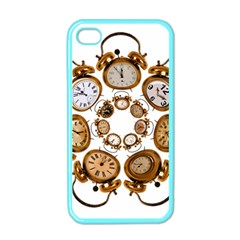 Time Clock Alarm Clock Time Of Apple Iphone 4 Case (color)