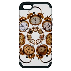 Time Clock Alarm Clock Time Of Apple Iphone 5 Hardshell Case (pc+silicone)