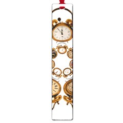 Time Clock Alarm Clock Time Of Large Book Marks