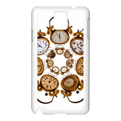 Time Clock Alarm Clock Time Of Samsung Galaxy Note 3 N9005 Case (white)
