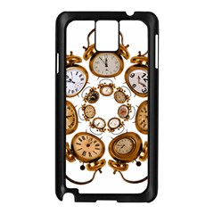 Time Clock Alarm Clock Time Of Samsung Galaxy Note 3 N9005 Case (black)