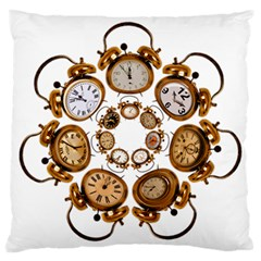 Time Clock Alarm Clock Time Of Standard Flano Cushion Case (two Sides)