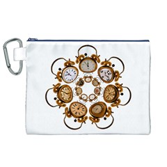 Time Clock Alarm Clock Time Of Canvas Cosmetic Bag (xl)