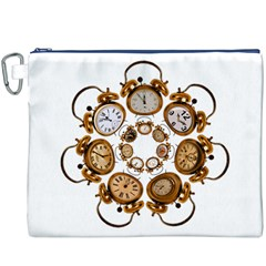 Time Clock Alarm Clock Time Of Canvas Cosmetic Bag (xxxl)