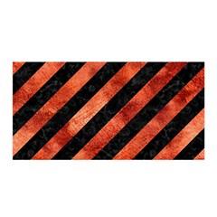 Stripes3 Black Marble & Copper Paint (r) Satin Wrap