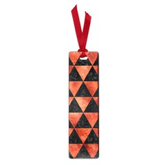Triangle3 Black Marble & Copper Paint Small Book Marks