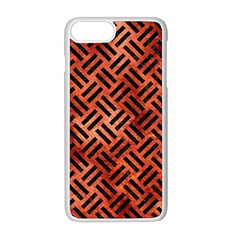Woven2 Black Marble & Copper Paint Apple Iphone 8 Plus Seamless Case (white)