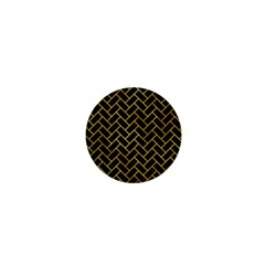Brick2 Black Marble & Gold Paint (r) 1  Mini Magnets