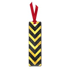 Chevron9 Black Marble & Gold Paint (r) Small Book Marks