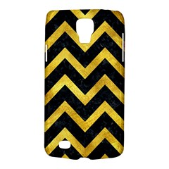 Chevron9 Black Marble & Gold Paint (r) Galaxy S4 Active