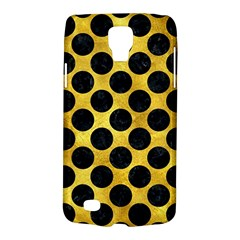 Circles2 Black Marble & Gold Paint Galaxy S4 Active
