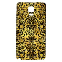 Damask2 Black Marble & Gold Paint Galaxy Note 4 Back Case