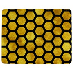 Hexagon2 Black Marble & Gold Paint Jigsaw Puzzle Photo Stand (rectangular)