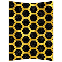 Hexagon2 Black Marble & Gold Paint (r) Back Support Cushion