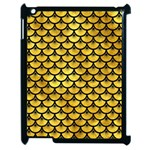 SCALES3 BLACK MARBLE & GOLD PAINT Apple iPad 2 Case (Black) Front