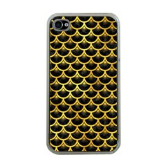 Scales3 Black Marble & Gold Paint (r) Apple Iphone 4 Case (clear)
