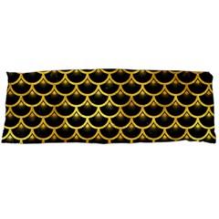 Scales3 Black Marble & Gold Paint (r) Body Pillow Case (dakimakura)
