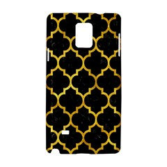 Tile1 Black Marble & Gold Paint (r) Samsung Galaxy Note 4 Hardshell Case