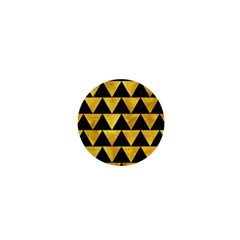 Triangle2 Black Marble & Gold Paint 1  Mini Buttons
