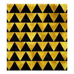 Triangle2 Black Marble & Gold Paint Shower Curtain 66  X 72  (large)
