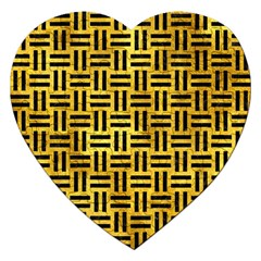Woven1 Black Marble & Gold Paint Jigsaw Puzzle (heart)