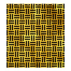 Woven1 Black Marble & Gold Paint Shower Curtain 66  X 72  (large)