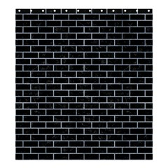 Brick1 Black Marble & Silver Paint (r) Shower Curtain 66  X 72  (large)