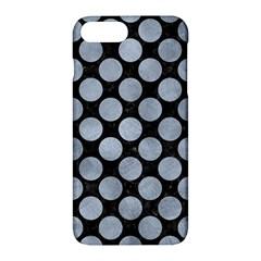 Circles2 Black Marble & Silver Paint (r) Apple Iphone 7 Plus Hardshell Case