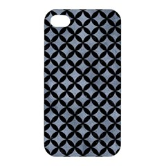 Circles3 Black Marble & Silver Paint Apple Iphone 4/4s Hardshell Case