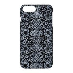 Damask2 Black Marble & Silver Paint (r) Apple Iphone 8 Plus Hardshell Case