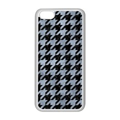 Houndstooth1 Black Marble & Silver Paint Apple Iphone 5c Seamless Case (white)