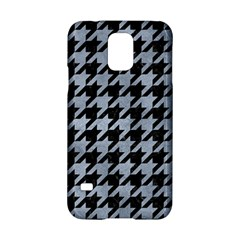 Houndstooth1 Black Marble & Silver Paint Samsung Galaxy S5 Hardshell Case