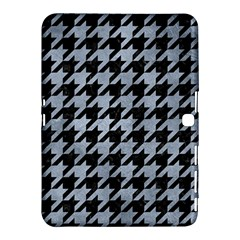 Houndstooth1 Black Marble & Silver Paint Samsung Galaxy Tab 4 (10 1 ) Hardshell Case