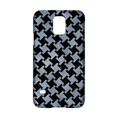 Houndstooth2 Black Marble & Silver Paint Samsung Galaxy S5 Hardshell Case
