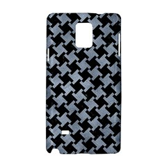 Houndstooth2 Black Marble & Silver Paint Samsung Galaxy Note 4 Hardshell Case