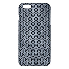 Hexagon1 Black Marble & Silver Paint Iphone 6 Plus/6s Plus Tpu Case