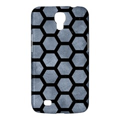 Hexagon2 Black Marble & Silver Paint Samsung Galaxy Mega 6 3  I9200 Hardshell Case