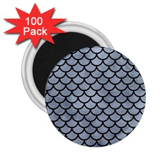 Scales1 Black Marble & Silver Paint 2 25  Magnets (100 Pack)